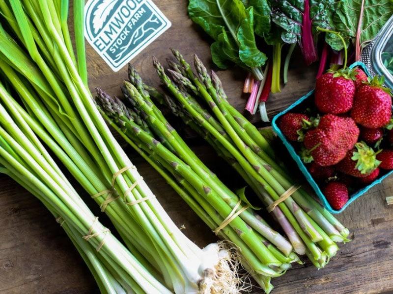 CSA farm share vegetables