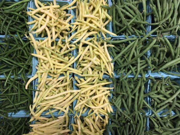 yellow and green beans